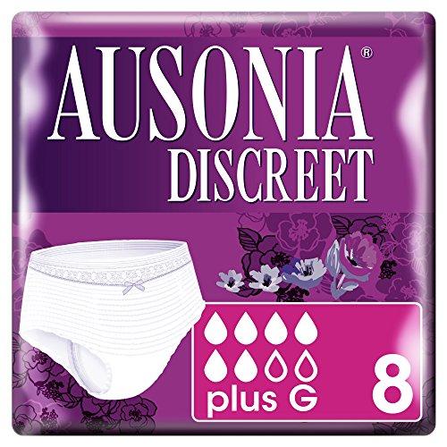 Ausonia Discreet Inkontinenz-Höschen-8Stück, Plus G