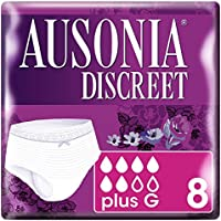 Ausonia Discreet Plus Braguitas Pants para Pérdidas de Orina, Talla G - 8 Unidades