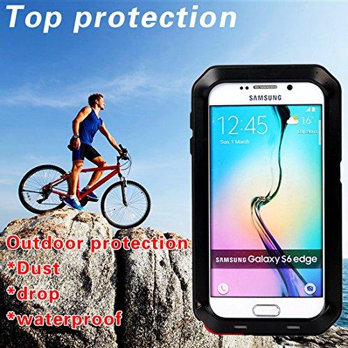 MNBS Phone Coque Etui Housse Antichoc Militaire Heavy Duty Shock Proof Survivor Protective Housse Pour iPhone 6/6SRed Black 8
