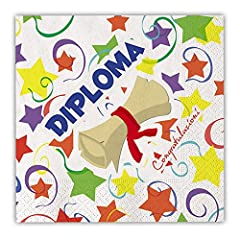 Idea Regalo - Tovaglioli festa Diploma