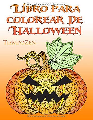 Libro Para Colorear De Halloween: Un libro para colorear para que los adultos se relajan con hermosos motivos de Halloween y de otoño