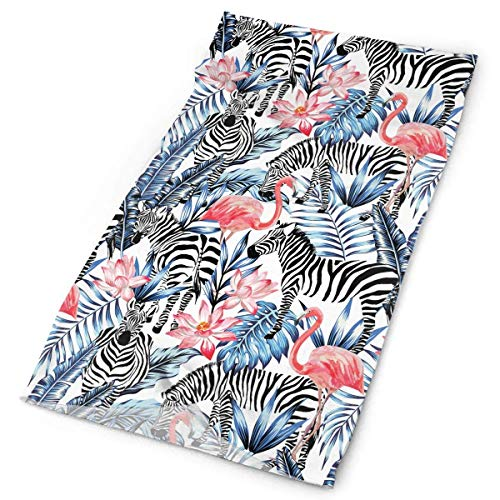 But why miss Exotic Pink Flamingo Zebra Outdoors & Daily Headwear,Bandana,Headband,Neck Gaiter,Balaclava,Helmet Liner for Running Riding Skiing Hiking Pink Miss Zebra