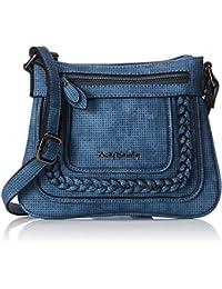Betty Barclay - Zip Bag, cartera Mujer, Blau (Vintage Blue), 1x19x25 cm (W x H D)
