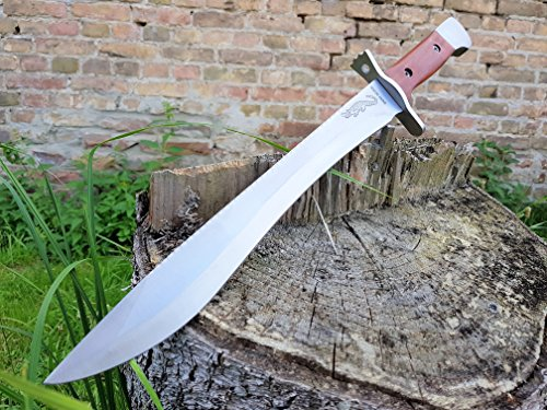 einzigartiges 43cm großes *Crocodile Doppelzahn* Camping - Survival - Outdoor - Jagd - Machete - festehendes Messer