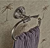Rozin montado en la pared anillo de toalla de bronce antiguo baño toalla Rack