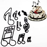 EPARTY:- Music Fondant Cutters, 10PCS Wedding Cookie Cutter Set for Anniversary/Bridal/Engagement Cake Decorating Sugarcraft