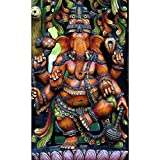 #8: Pitaara Box Hindu God Ganesh - MEDIUM Size 14.0 inch x 23.0 inch - FRAMED CANVAS Wall Paintings with 6mm (0.24 inch) THICK MDF MOUNTING FRAME : DIGITAL PRINT Wall Posters Art Panel like Hand Paintings : Home Interior Wall Décor Photo Gifts & Decorative Paintings for Bedroom, Living Room, Drawing, Dining Room, Kitchen, Office, Reception, Bathroom, Outdoor, Gallery, Hotels, Restaurants, & Balcony : Religious : Photography