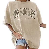 Tomwell Maglietta Manica Corta Donna Estiva Stampata Vintage Camicia T-Shirt Sportivi Girocollo da Donna Maglie Oversize…