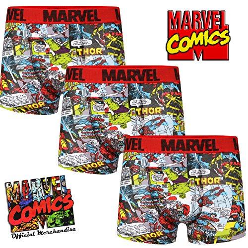 Pack of 3 Mens Marvel Comics Boxer Short Trunks