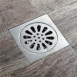 Haixng Bad Dusche Bodenablauf SUS304 Edelstahl Stahl Quadratische Duschrinne filtern, Abnehmbarem Deckel Polieren Oberflächenbehandlung