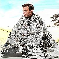 Impermeable impermeable, plata impermeable Mylar, hasta 90% - manta térmica, primeros auxilios al aire libre, camping, excursionismo, súper deportivo, manta Mylar - desastre natural (210 * 130 cm)