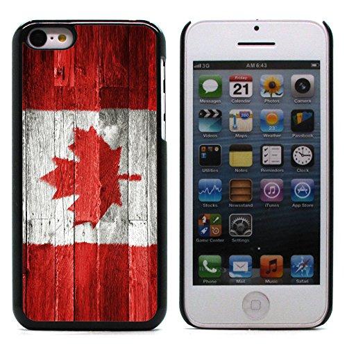 Graphic4You Vintage Uralt Flagge Von Kanada Kanadier Design Harte Hülle Case Tasche Schutzhülle für Apple iPhone 5C Kanada Kanadisch