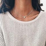 GZpart Collana girocollo con cuore in argento placcato oro Silver