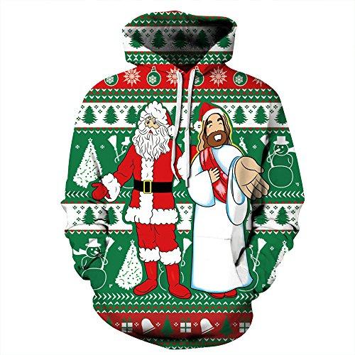 TDPYT Große Größe Liebhaber Kostüm/Weihnachten Digitaldruck Baseball Anzug/Große Größe Lose Gürtel Hut Paar Kostüm M ()