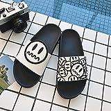 fankou Stare fresco in estate sandali, coppie en suite Le stanze da bagno dispongono di una vasca da bagno cartoon anti-slittamento pantofole spesso uomini e,43, bianco