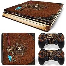46 North Design Ps4 Slim Playstation 4 Slim Pegatinas De La Consola Old Book Treasure + 2 Pegatinas Del Controlador