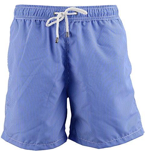 Red Point Beachwear, Homme, Short de bain, Jon, Rayures Bleu