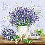 Ambiente Papier-Servietten, 3-lagig, Lavendel Szene
