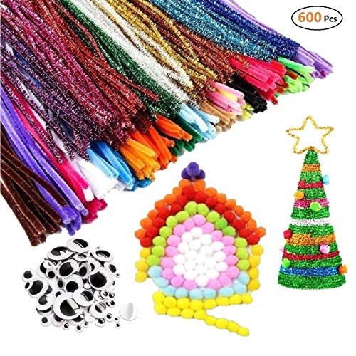 600pcs Pipe Cleaners Craft Kits,...