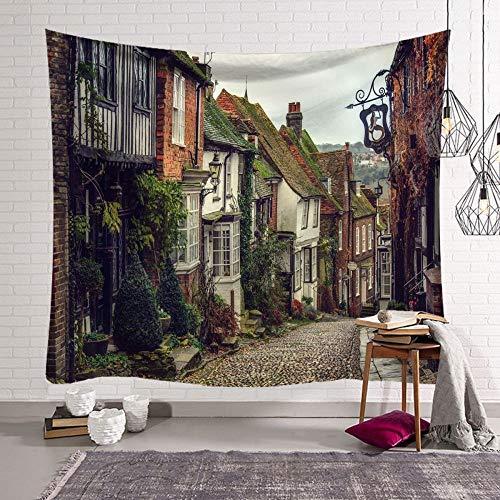 mmzki Jugendherz nordischen europäischen Stadt Schlafzimmer Dekor Stoff Wandteppich Wand Decke hängenden Stoff Hintergrund GT-000531 95 x 73