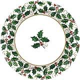 Kleine Seasonal Holly Pappteller Weihnachten Party Einweg Party Wert Geschirr (40Stück), grün, 63/10,2cm
