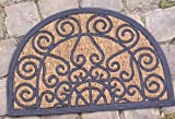 Fußmatte Kokosmatte Fußabtreter Türmatte Gummi Kokos halbrund Art Deco Verona