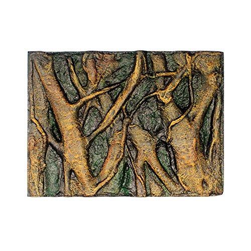 Muamaly Hintergrunddekor für Aquarien, 3D Schaum Rock Reptil Stein Aquarium Hintergrund Aquarium Tafel Dekor (H)