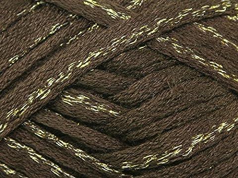 Katia Ondas Lux-Laine à tricoter pour écharpe Marron doré-Pelote 100 g