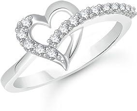 V. K. Jewels Rhodium Plated Alloy Ring For Women & Girls - Fr2071R [Vkfr2071R]