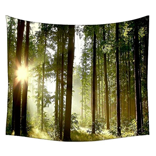 Snoogg Sunlight Forest Wall Hanging Indian Mandala Tapestry Decorative Dorm Tapestry Wall Hanging Beach Picnic Sheet Hippie Tapestry Wall Tapestries , Bohemian Tapestries