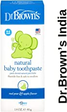 Dr. Brown's Natural Baby Toothpaste Pear & Apple Flavour, 1.4 oz/40g