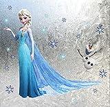 Elsa y Olaf Frozen The Ice Princess Pegatinas de pared Guardería Calcomanía Decoración Decoración de bebé Niños Cuarto Pegatina de pared extraíble Mural