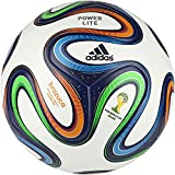 adidas Fußball Brazuca Junior, White/Night Blue/Multicolor, 5, F82346