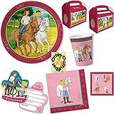 Bibi Und Tina Party-Set 48tlg. für 6 Kinder : Teller Becher Servietten Einladung Geschenkboxen