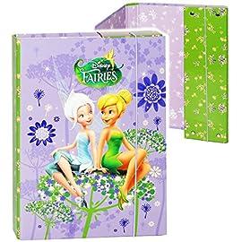 alles-meinede-GmbH-Heftordner-Ordner-Heftbox-A4-Disney-Fairies-Tinkerbell-fr-Hefte-Zettel-und-Mappen-Glanz-Druck-Gummizugmappe-Heftmappe-Mappe-Box