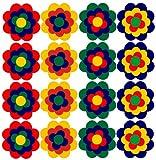 Aufkleber Autoaufkleber Fliesenaufkleber Wandtattoo Blumen ähnlich Prilblumen Retroblume 16 x 5cm
