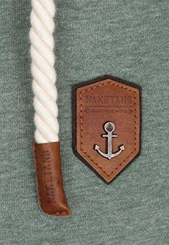 Naketano Male Zipped Jacket Muzzy Spitzbubi Leaf Green Melange