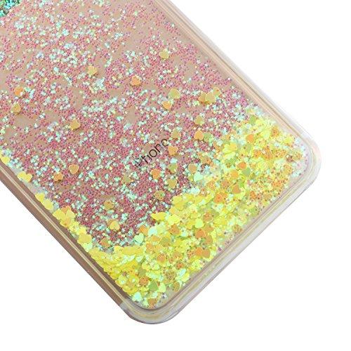 TOYYM - Cover per iPhone 7Plus 5,5, trasparente con brillantini e liquido, include 1 pellicola protettiva e 1pennino capacitivo, plastica, Color 27#, Apple iPhone 7 Plus 5.5 Color 17#