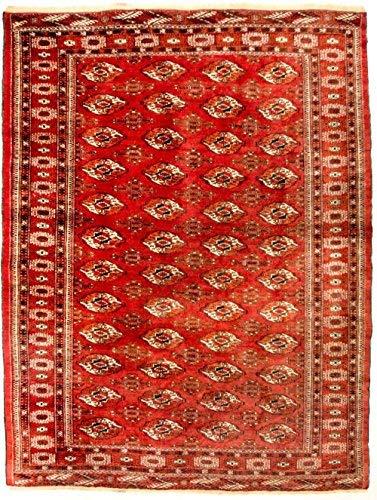 Morgenland afgano buchara tappeto 229 x 174 cm rosso annodato a mano tappeto in lana
