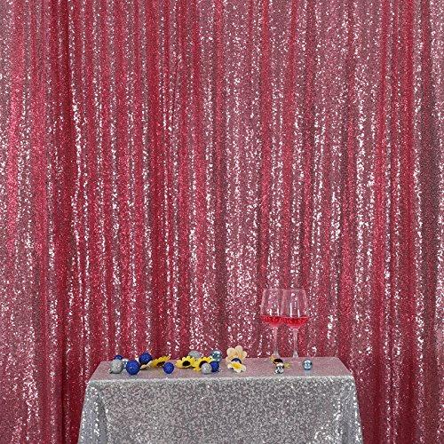 illetten Hintergrund Stoff Vorhang Hochzeit, 4Ft X 6Ft (120 cm X 180 cm) (Party-stadt-kulissen)