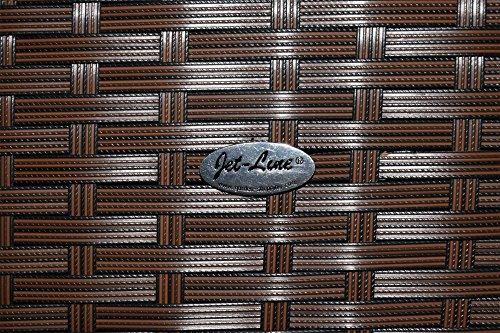 Gartenmöbel Garten Lounge Sitzgruppe Rattan Cannes brown - 2