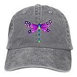 Pants Hats Colorful Dragonfly Denim Hat Adjustable Unisex Plain Baseball Caps