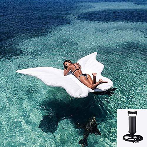 Forma di farfalla bianca galleggiante fila ecologico pvc materiali spessa acqua gonfiabile toy fashion style,per bambini e adulti
