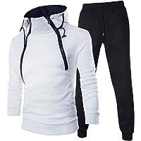 Guanghuansishe Tuta Uomo Sportive 2 Pezzi Felpa e Pantaloni Tuta Ginnastica Uomo Palestra Tuta da Jogging Pantaloni Uomo…