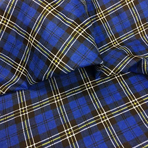 EDGE Flanell Baumwollstoff Stoff Karo 1lfm 150cm breit (Blau A2) (Karo-flanell-pyjama)