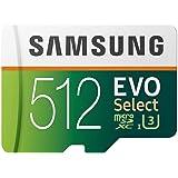 Samsung Memorie MB-ME512GA EVO Select Scheda MicroSD da 512 GB, UHS-I Fino a 100 MB/s, con Adattatore SD