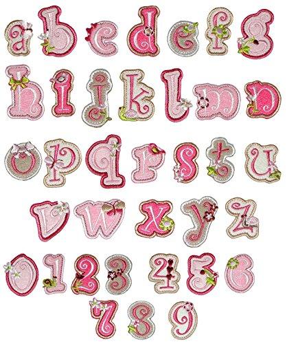 1 - Zahl als Bügelbild - 2,3 cm * 3,9 cm groß - gestickte Applikation Aufnäher - einzelne Zahlen / Nummern - zum Aufbügeln (Gestickte Zahlen)