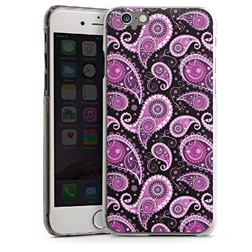 Apple iPhone 5s Housse étui coque protection Ornements Motif Paisley Lilas CasDur transparent