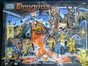 mega block - jeu construction - dragons - fire montain ref 9882