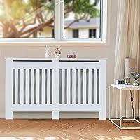 KingSaid MorNon Cache-radiateur - Étagère en Bois - Moderne à Lattes en Panneaux MDF - Meuble de Rangement pour Salon…
